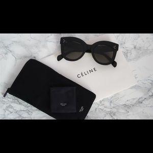 364832bd52926 Celine Accessories - Celine Chris Black Round Sunglasses